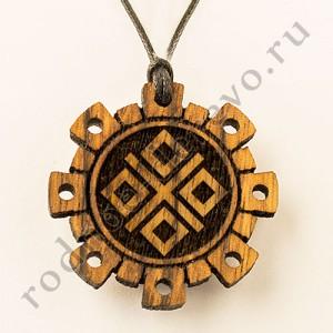 Амулет символ Макоши из дуба